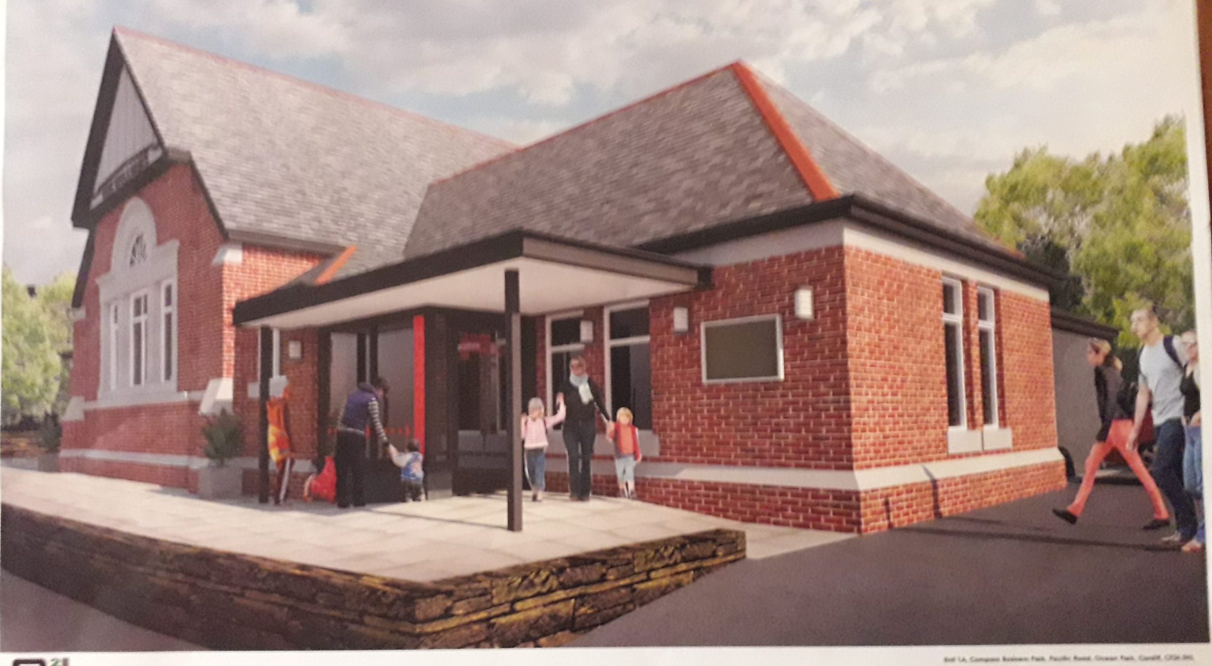 Picture of an artists impression of the new main entrance